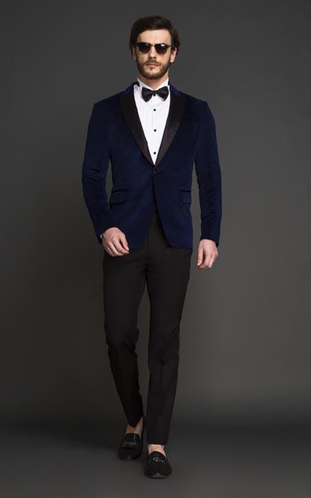 Rockefeller Blue Velvet Tuxedo