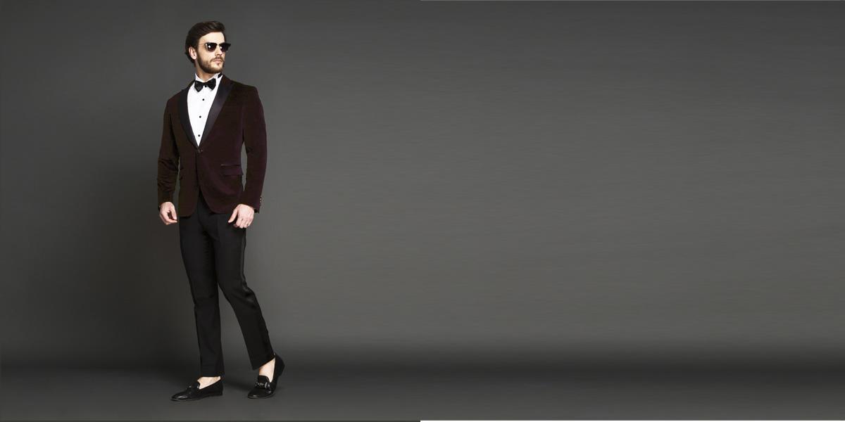 Statesman Maroon Velvet Tuxedo- view-1