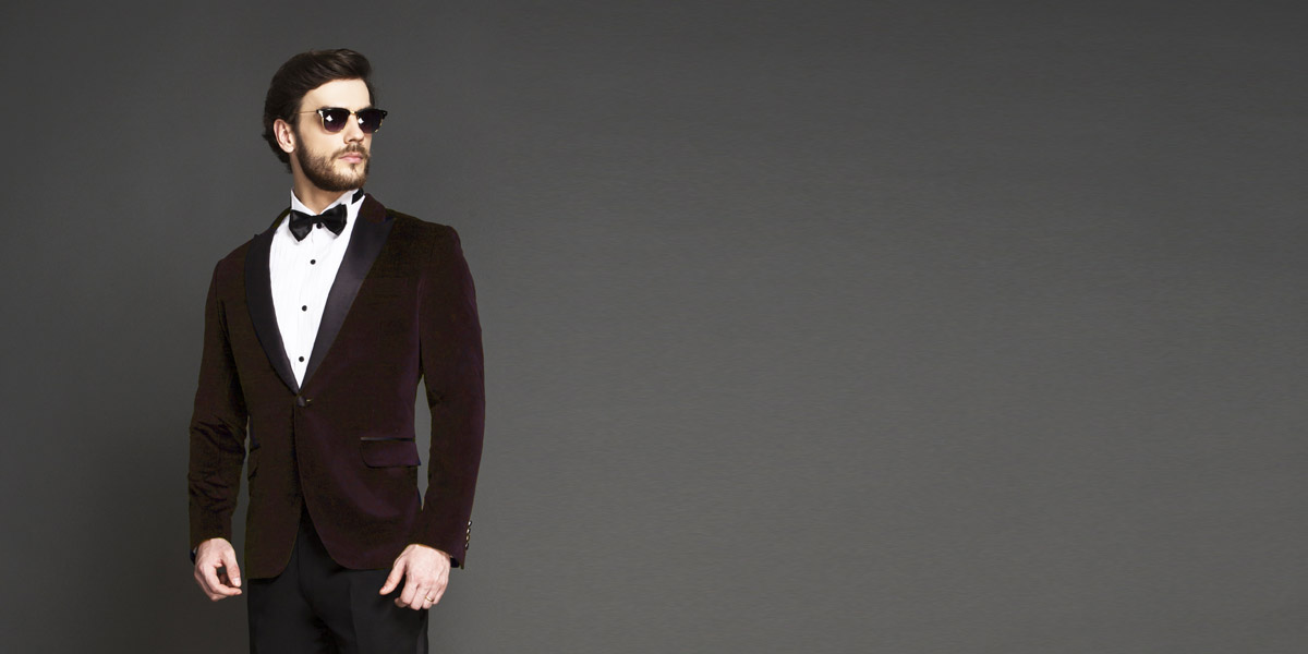 Statesman Maroon Velvet Tuxedo- view-3