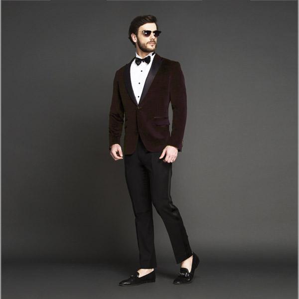 Statesman Maroon Velvet Tuxedo-mbview-1