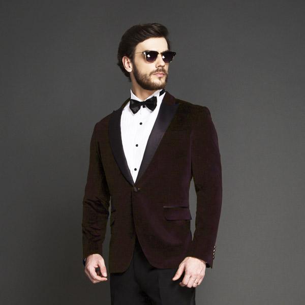 Statesman Maroon Velvet Tuxedo-mbview-3