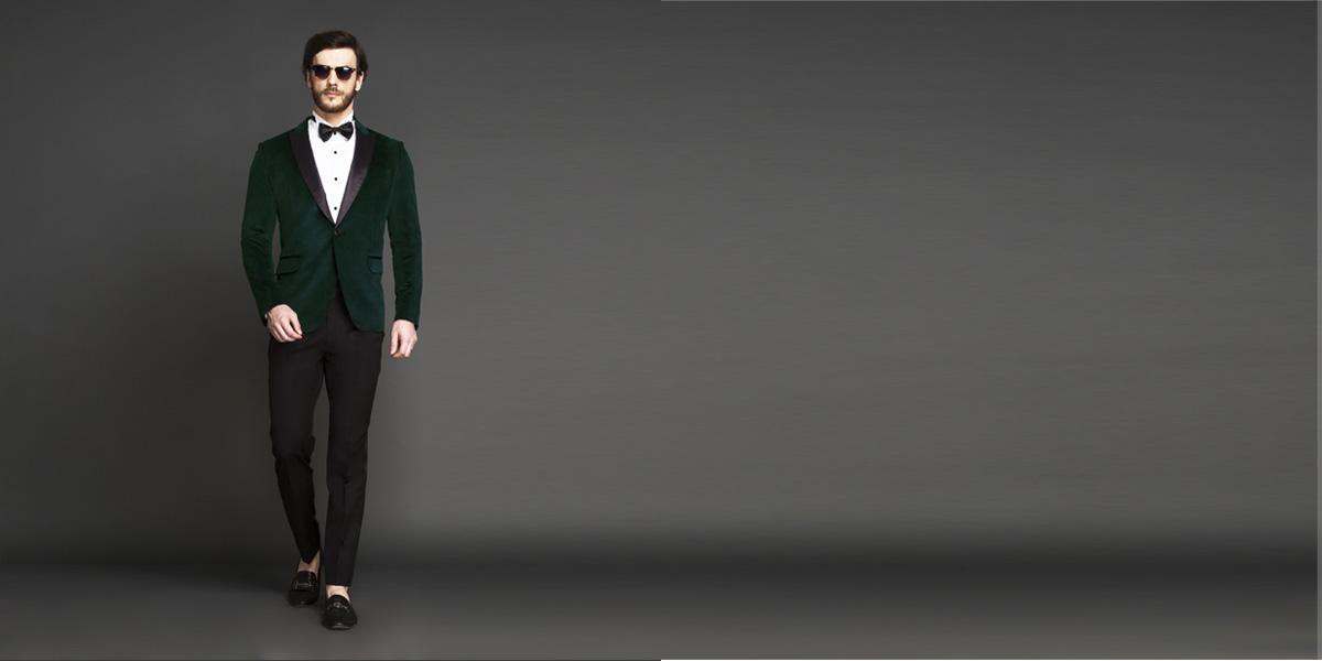 Calvary Green Velvet Tuxedo- view-1