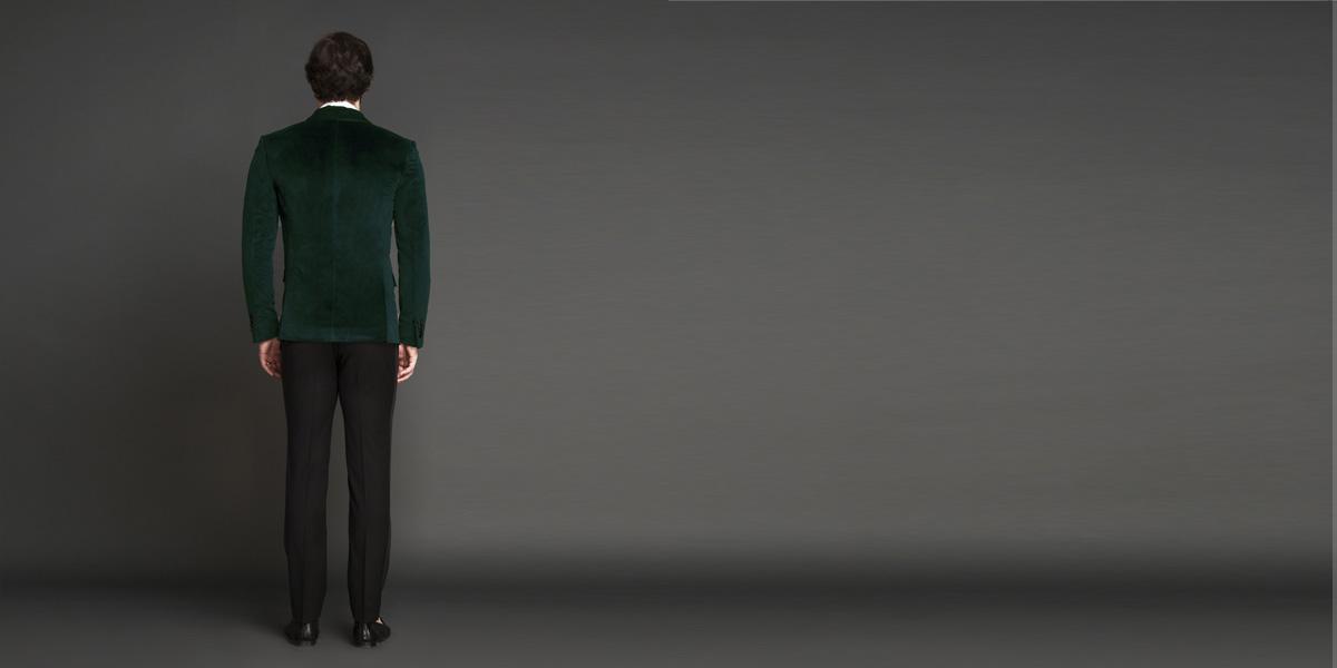 Calvary Green Velvet Tuxedo- view-2