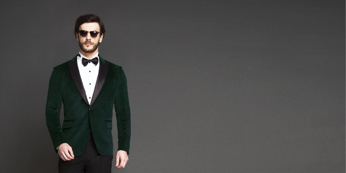 Calvary Green Velvet Tuxedo- view-3