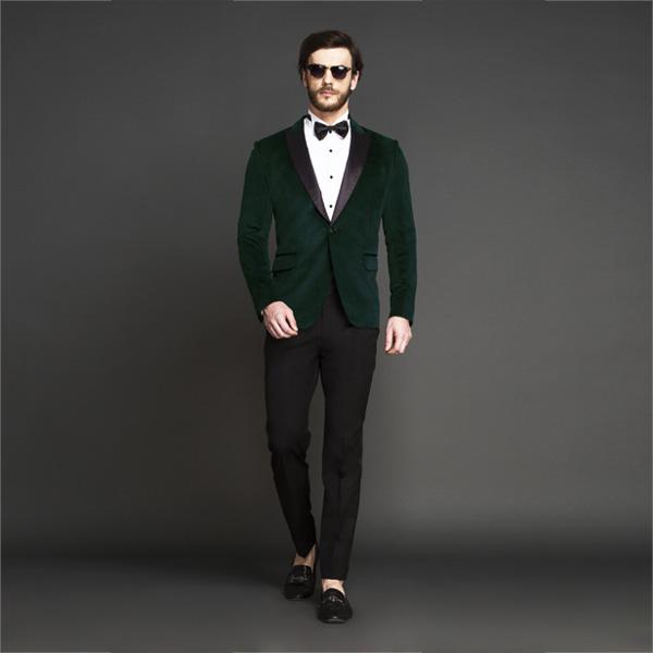 Calvary Green Velvet Tuxedo-mbview-1