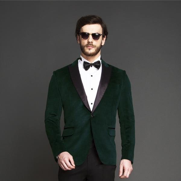 Calvary Green Velvet Tuxedo-mbview-3
