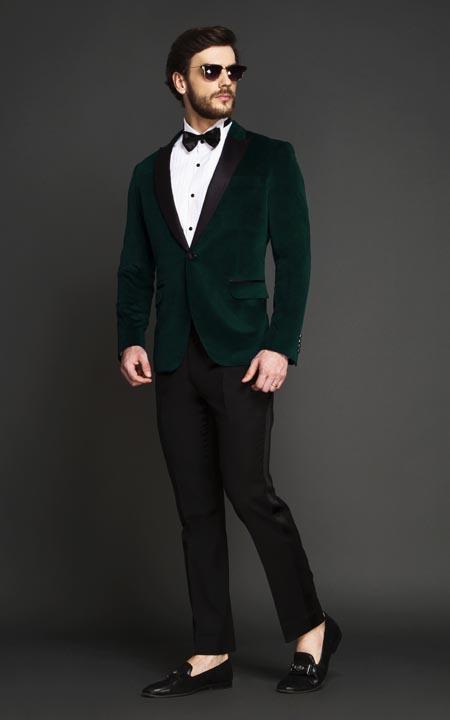 Calvary Green Velvet Tuxedo