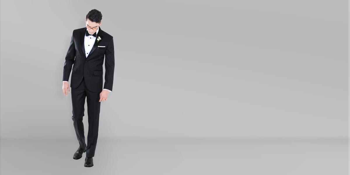 Black Satin Lapel Tuxedo- view-1