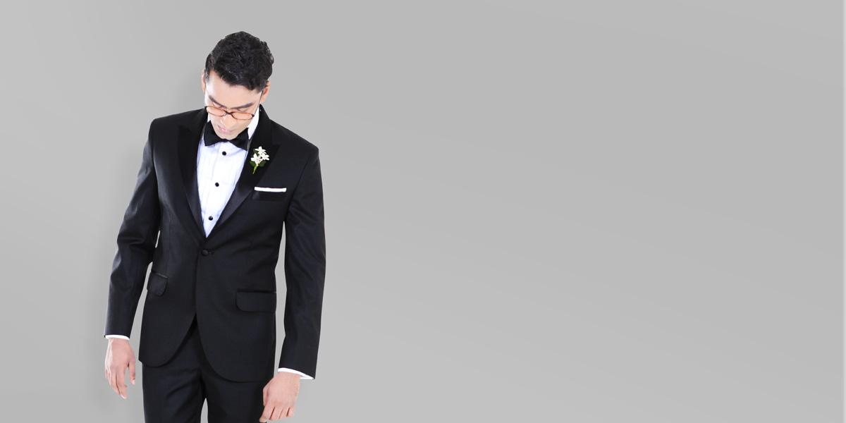 Black Satin Lapel Tuxedo- view-2