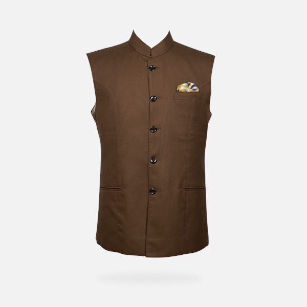 Earthy Brown Equestrian Polo Jacket-mbview-1