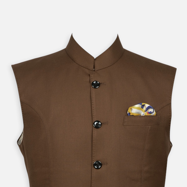 Earthy Brown Equestrian Polo Jacket-mbview-3