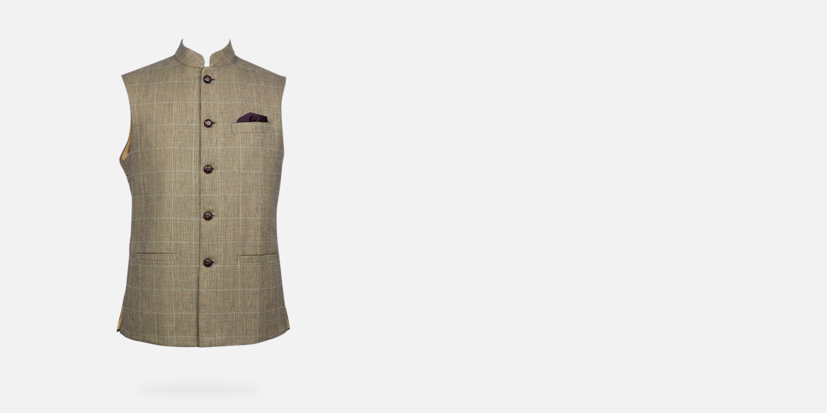 Kensington Houndstooth Royal Polo Jacket- view-1