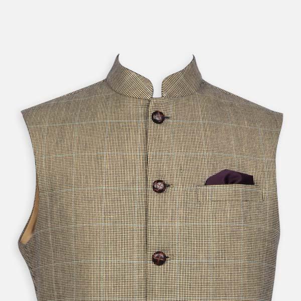 Kensington Houndstooth Royal Polo Jacket-mbview-3