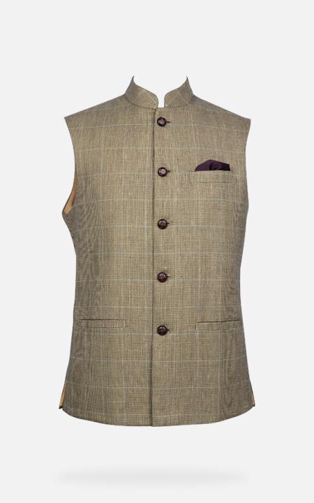 Kensington Houndstooth Royal Polo Jacket