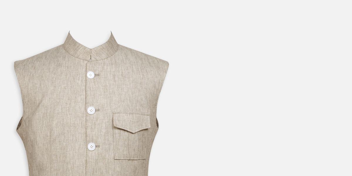 Organic Pastel Tagore Jacket- view-3