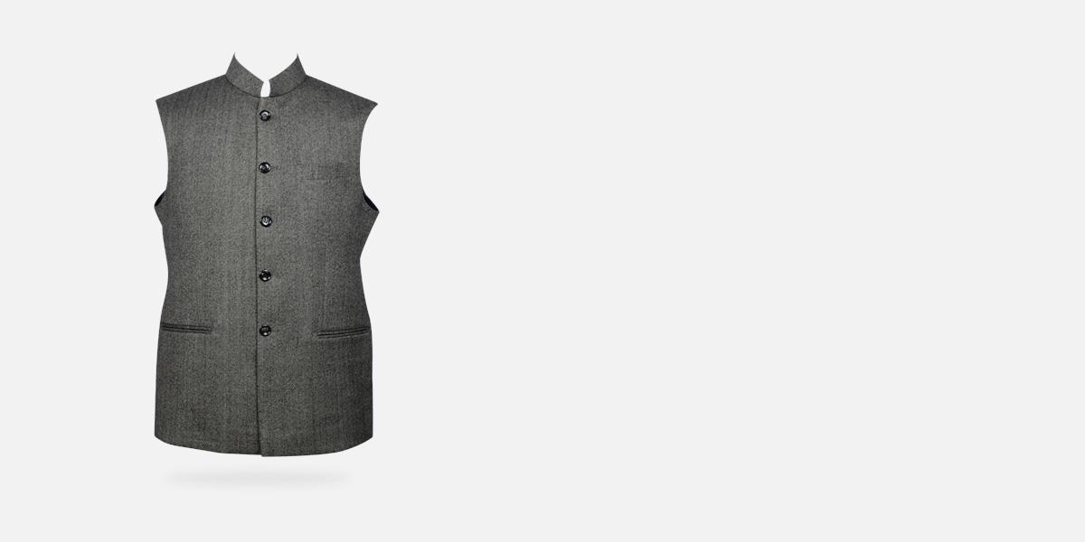 Chelsea  Gray Tweed Waistcoat- view-2