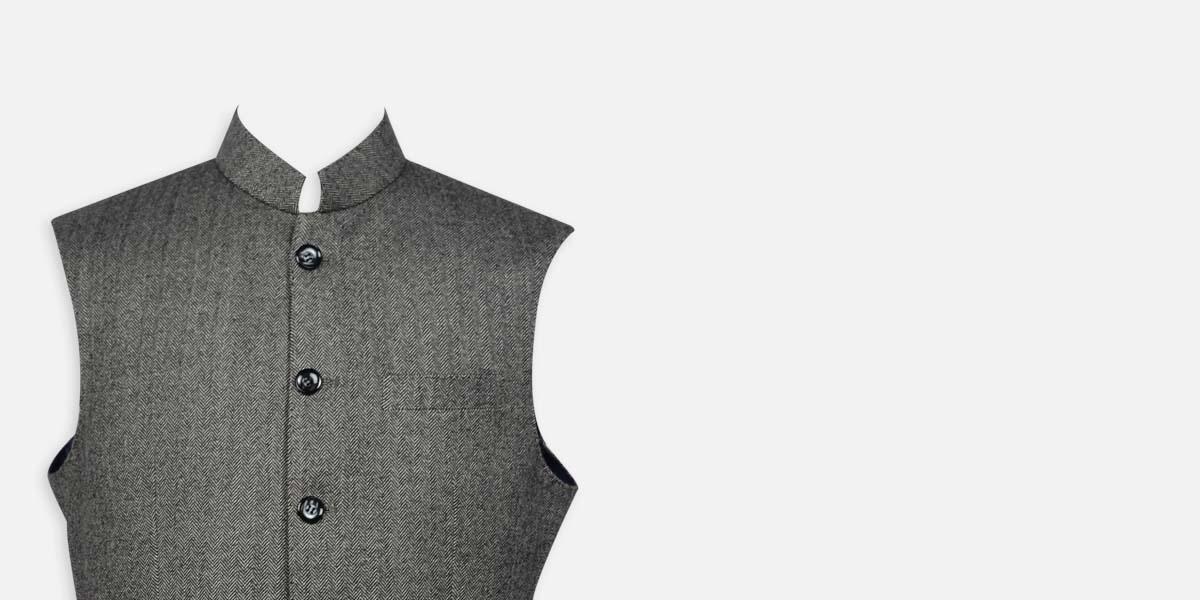Chelsea  Gray Tweed Waistcoat- view-3