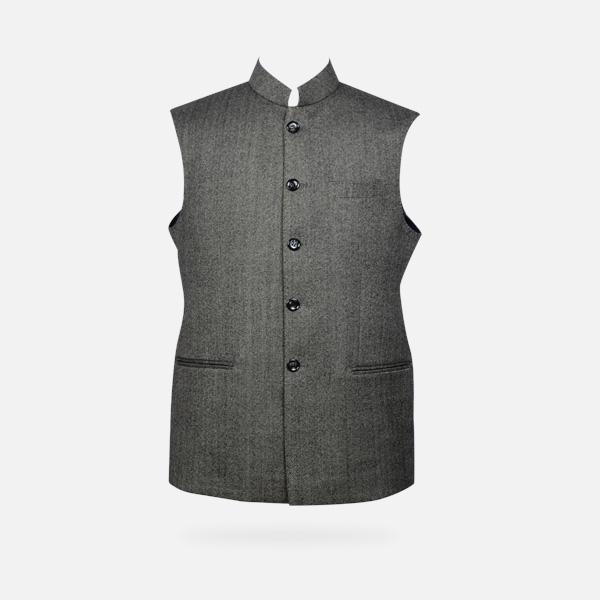Chelsea  Gray Tweed Waistcoat-mbview-1