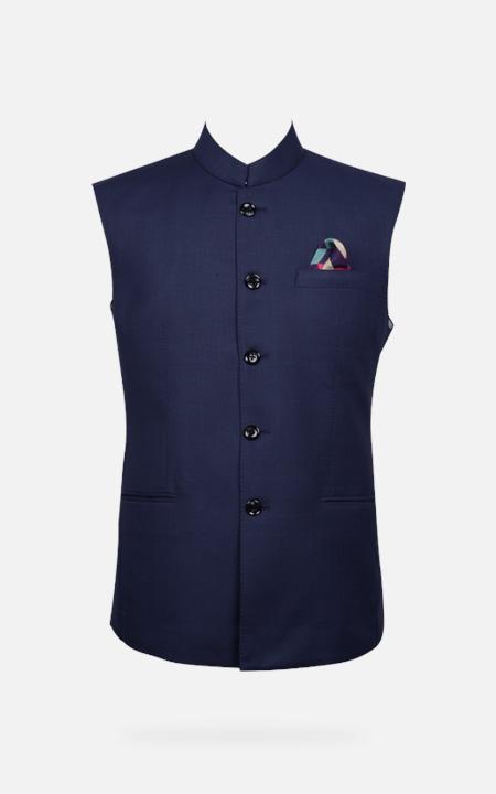 Navy Blue Bombay High Checks Bandi