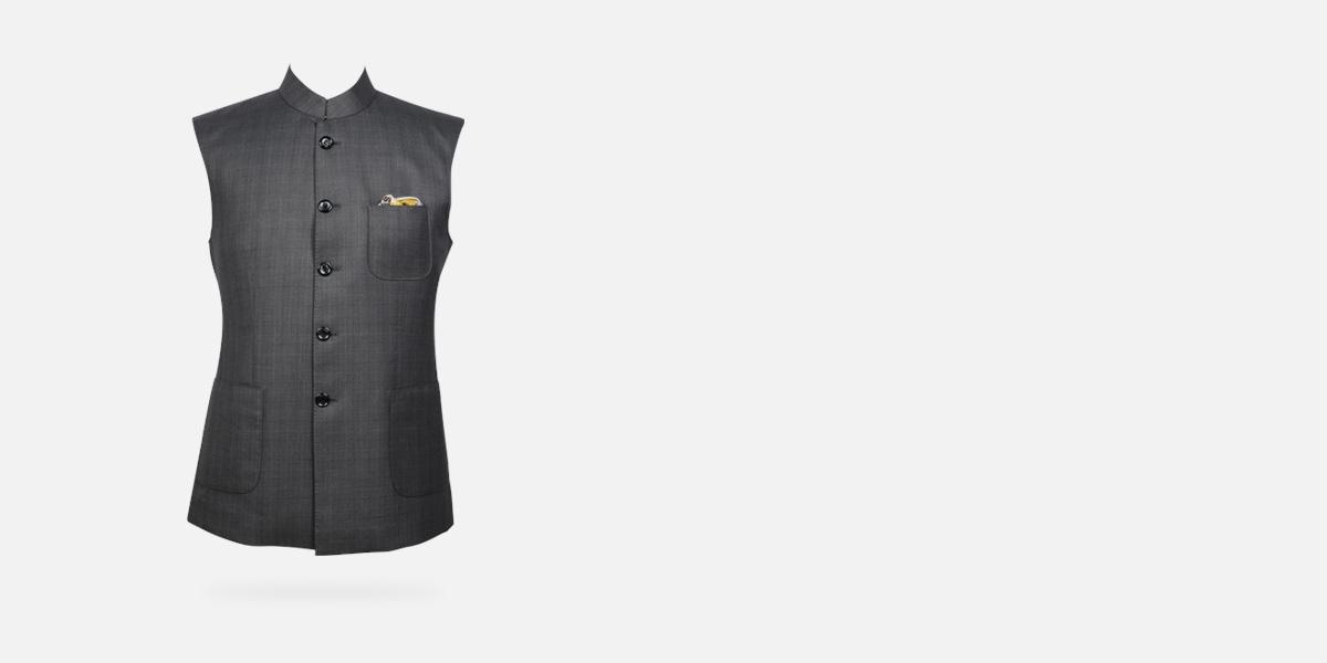 Urban Grey Checks Jacket- view-1