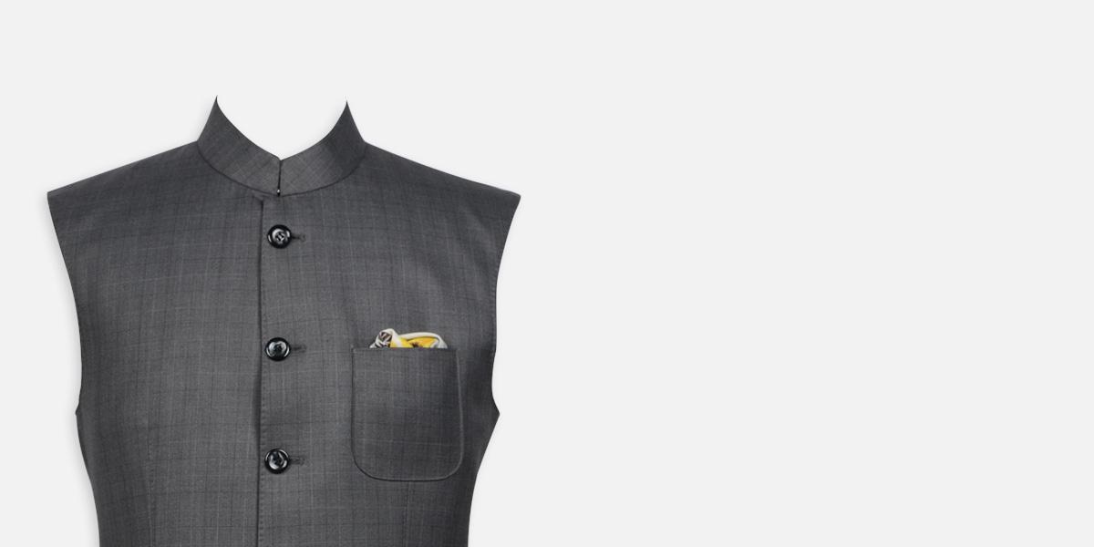 Urban Grey Checks Jacket- view-3