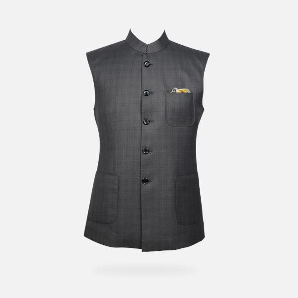 Urban Grey Checks Jacket-mbview-main