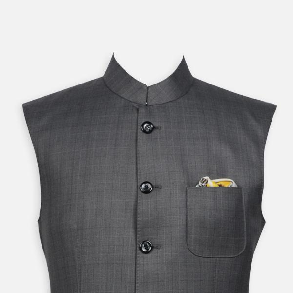 Urban Grey Checks Jacket-mbview-3