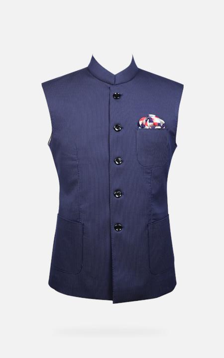 Knightsbridge Navy Blue Pinstripes Jacket