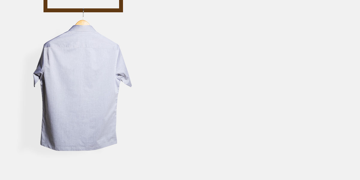 Grey Chambray Imperial Polo Shirt- view-2