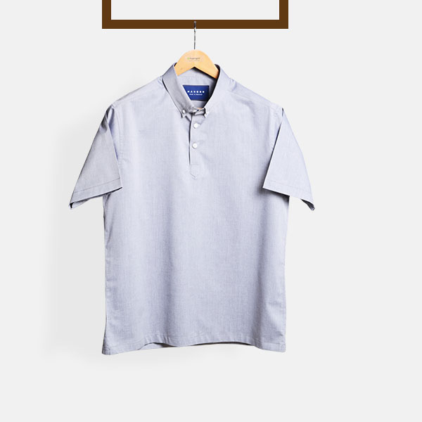 Grey Chambray Imperial Polo Shirt-mbview-1