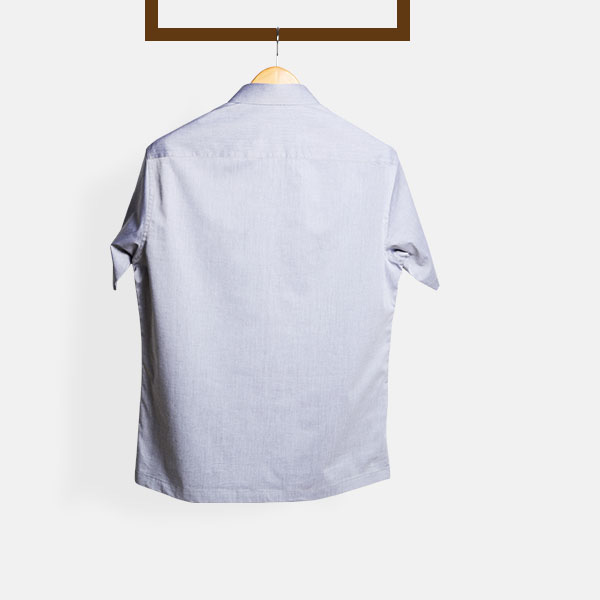644b37439 Grey Chambray Imperial Polo Shirt | Custom Made by A.I.