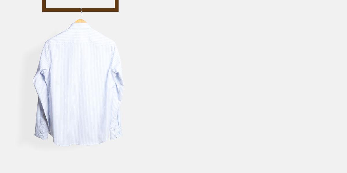 Blue & Black Pinstripes Shirt- view-2