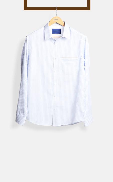 Blue & Black Pinstripes Shirt