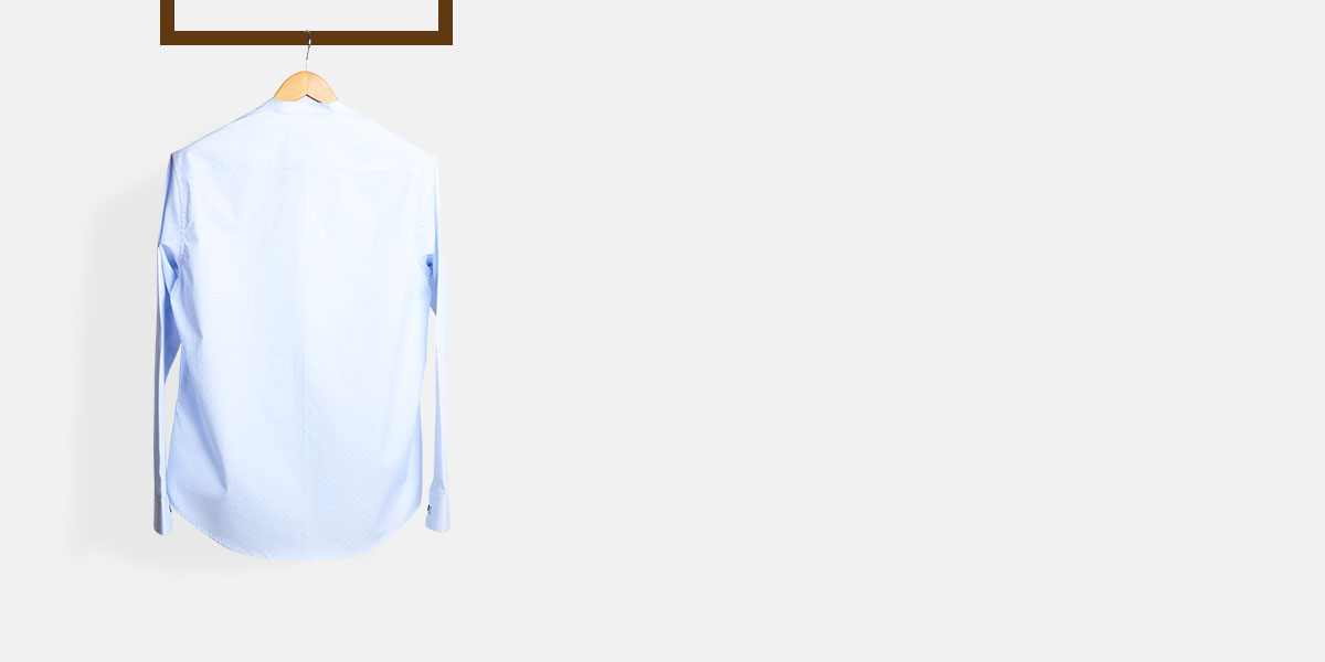 Blue Microcheck Embroidered Shirt- view-2