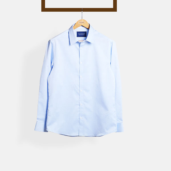 Blue Pencil Stripes Imperial Shirt-mbview-1