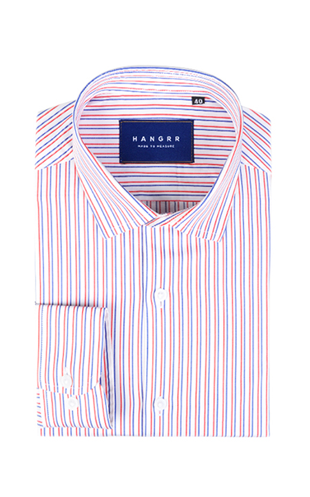Soktas Navy & Red Striped Shirt