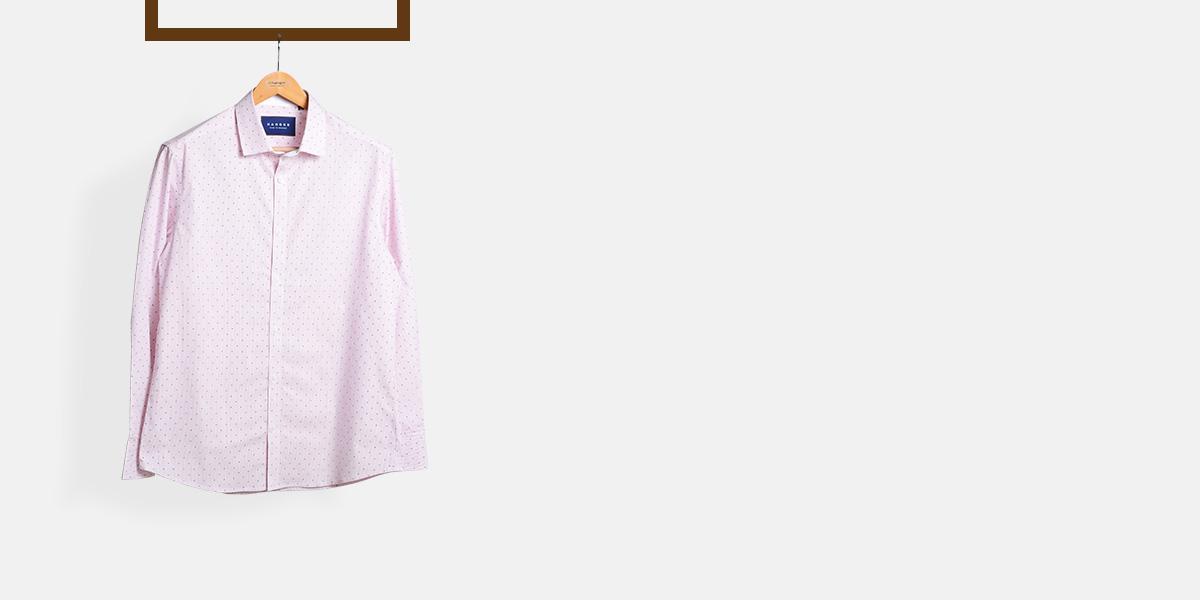 Wine Pencil Striped Shirt- view-1