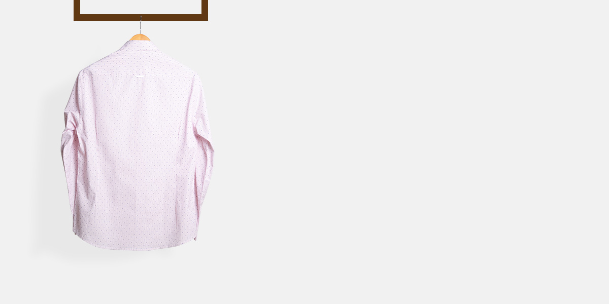 Wine Pencil Striped Shirt- view-2