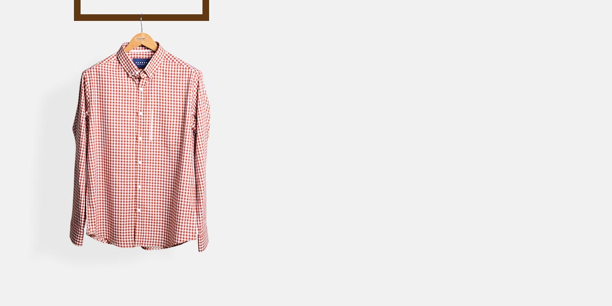 Florence Brick Gingham Shirt- view-1