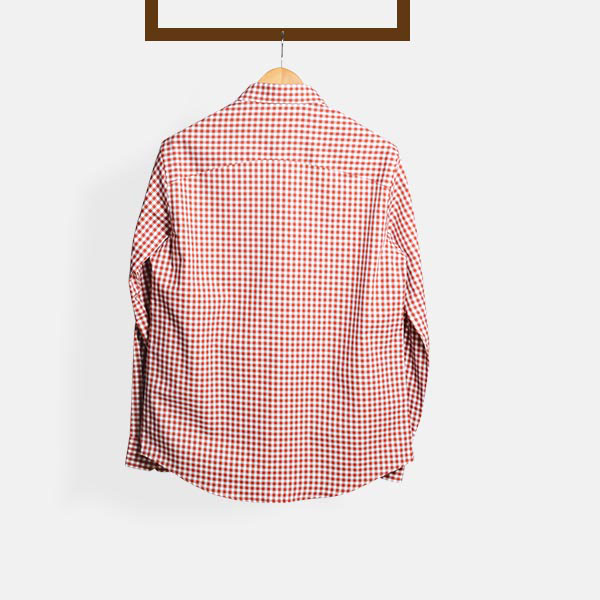 Florence Brick Gingham Shirt-mbview-2