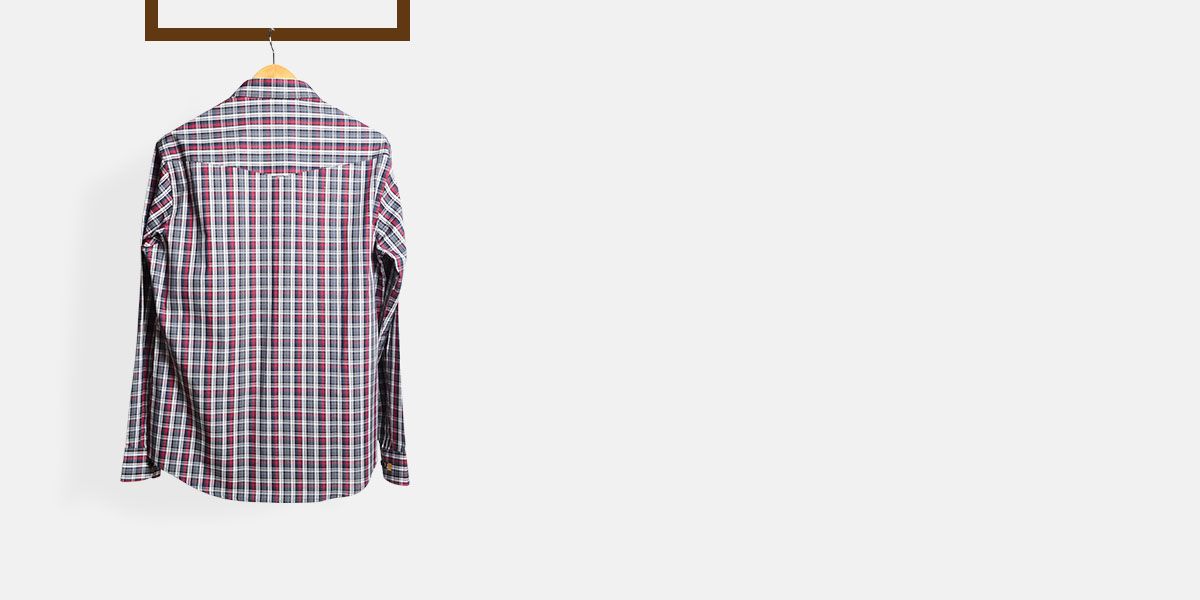 Maroon & Grey Tartan Checks Shirt- view-2