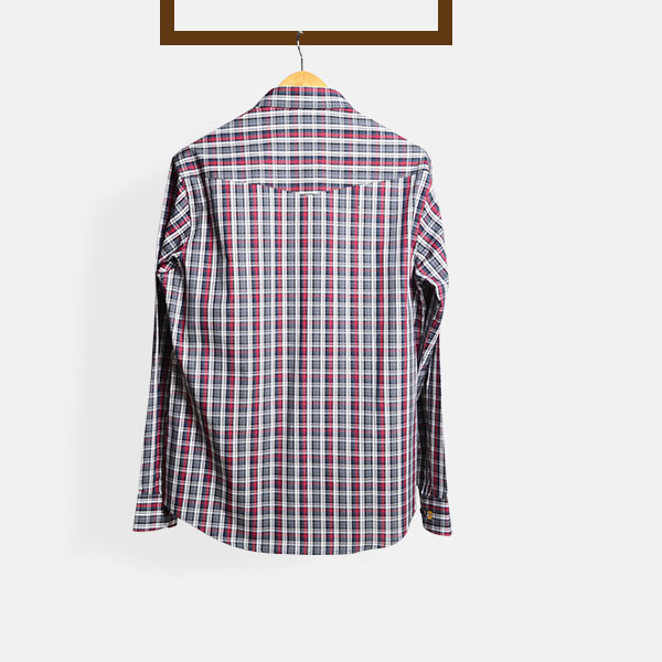 Maroon & Grey Tartan Checks Shirt-mbview-2