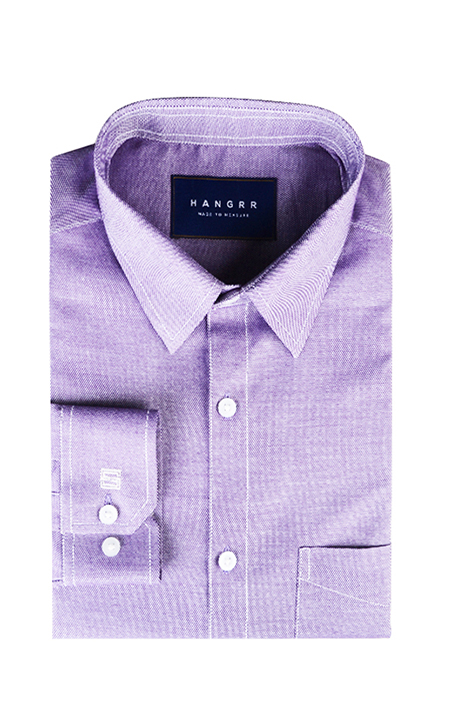 Wine Crossweave Shirt