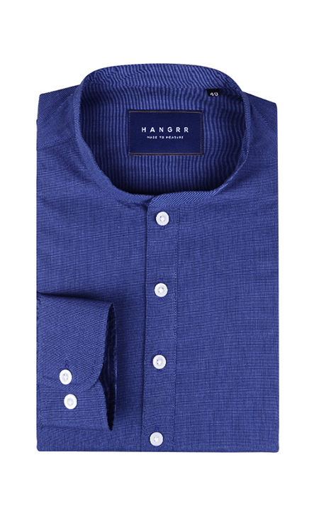 Royal Blue Fine Weave Henley Shirt