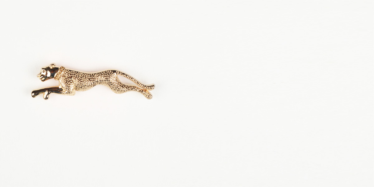 Leopard Gold-Tone Lapel Pin- view-1