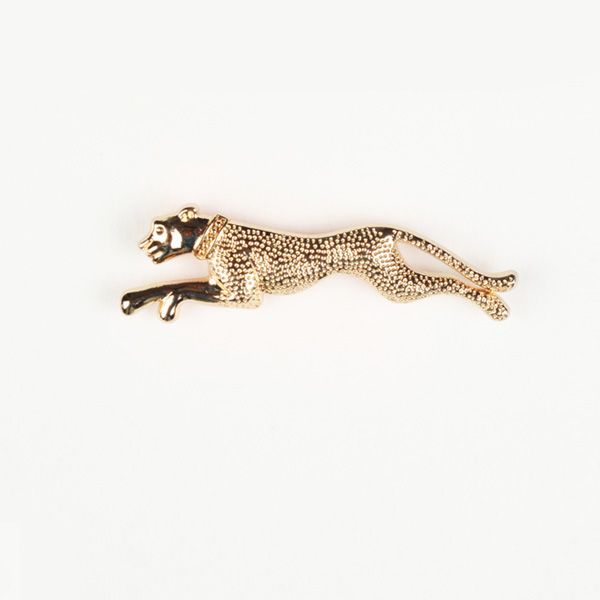 Leopard Gold-Tone Lapel Pin | Custom Made by A I