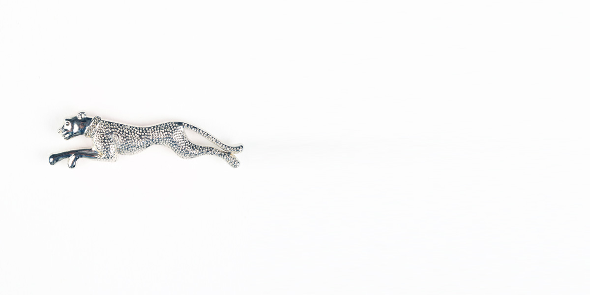 Leopard Silver-Tone Lapel Pin- view-1