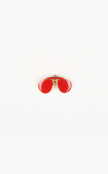 Cocktail Red Shades Lapel Pin