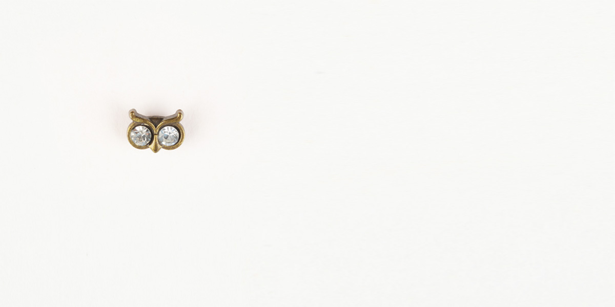 Owl Brass-Tone Lapel Pin- view-1