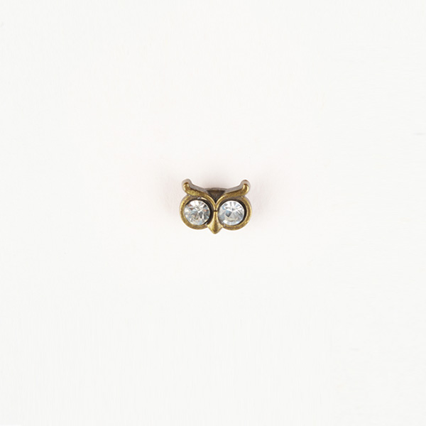 Owl Brass-Tone Lapel Pin-mbview-1
